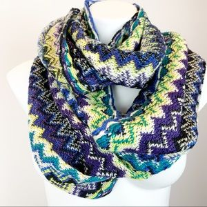 Apt. 9 chevron knit infinity scarf multi color